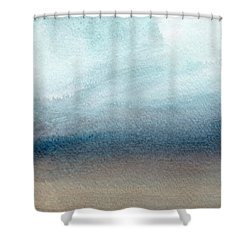 Sandy Shore- Art By Linda Woods Shower Curtain by Linda Woods