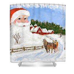 Santas Beard Shower Curtain by Susan Kinney