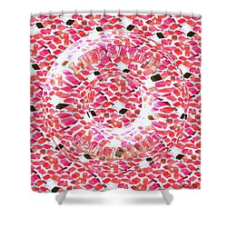 Santas Invisible Lifesaver Candy Shower Curtain by Steamy Raimon