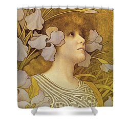 Sarah Bernhardt Shower Curtain by Paul Berthon