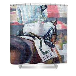 Saratoga Stripes Shower Curtain by Kimberly Santini