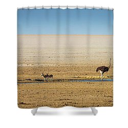 Savanna Life Shower Curtain by Inge Johnsson
