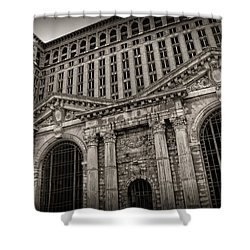 Save The Depot - Michigan Central Station Corktown - Detroit Michigan Shower Curtain by Gordon Dean II