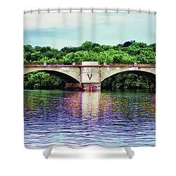 Schuylkill River Shower Curtain by Bill Cannon