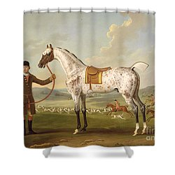 Scipio - Colonel Roche's Spotted Hunter Shower Curtain by Thomas Spencer