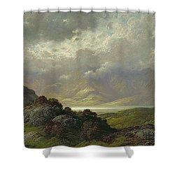 Scottish Landscape Shower Curtain by Gustave Dore