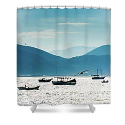 Sea And Freedom Shower Curtain by Martin Lopreiato