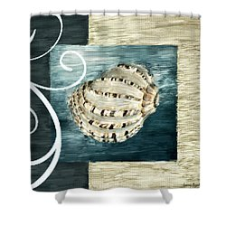 Sea Treasure Shower Curtain by Lourry Legarde
