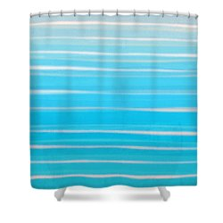 Shower Curtain featuring the painting Seashore Colors by Frank Tschakert