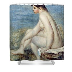 Seated Bather Shower Curtain by Renoir