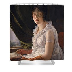 Seated Portrait Of Marie Philippe Claude Walbonne Shower Curtain by Francois Pascal Simon Gerard