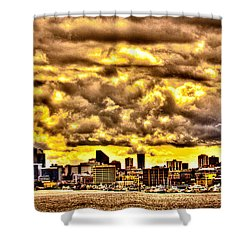 Seattle Cityscape IIi Shower Curtain by David Patterson