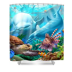 Seavilians Shower Curtain by Jerry LoFaro