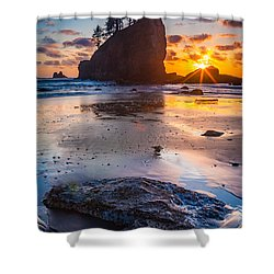 Second Beach Rock Shower Curtain by Inge Johnsson