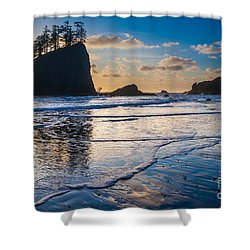 Second Beach Waves Shower Curtain by Inge Johnsson