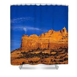 Sedona Smoke Signals Shower Curtain by Mike  Dawson