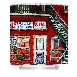 Segal's Market St.lawrence Boulevard Montreal Shower Curtain by Carole Spandau