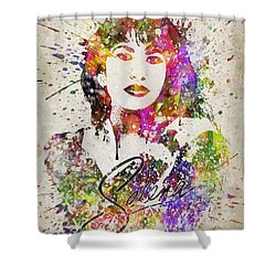 Selena Quintanilla In Color Shower Curtain by Aged Pixel