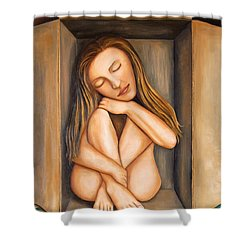Self Storage Shower Curtain by Leah Saulnier The Painting Maniac