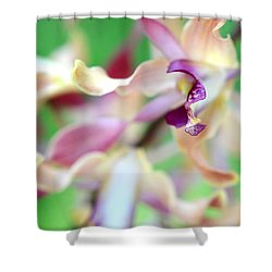 Sensual Touch Of Exotic II. Orchid II Shower Curtain by Jenny Rainbow