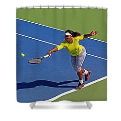Serena Williams 1 Shower Curtain by Nishanth Gopinathan