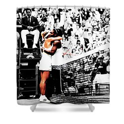 Serena Williams And Angelique Kerber 1a Shower Curtain by Brian Reaves