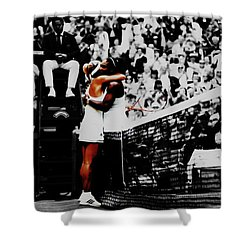 Serena Williams And Angelique Kerber Shower Curtain by Brian Reaves