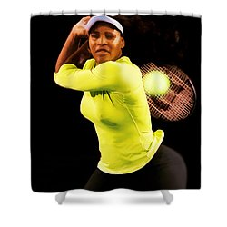 Serena Williams Bamm Shower Curtain by Brian Reaves