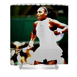 Serena Williams Making History Shower Curtain by Brian Reaves
