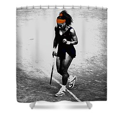 Serena Williams Match Point 3a Shower Curtain by Brian Reaves