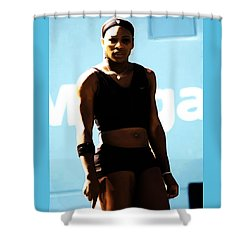 Serena Williams Match Point IIi Shower Curtain by Brian Reaves