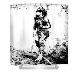 Serena Williams Dont Quit Shower Curtain by Brian Reaves