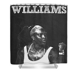 Serena Williams Shower Curtain by Semih Yurdabak