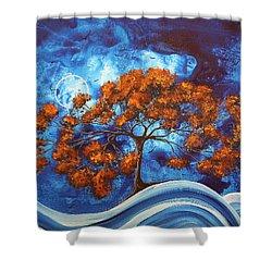 Serendipitous Original Madart Painting Shower Curtain by Megan Duncanson