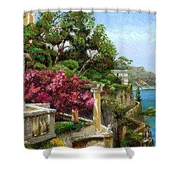 Serene Sorrento Shower Curtain by Trevor Neal