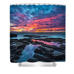 Serene Sunset Shower Curtain by Robert Bynum
