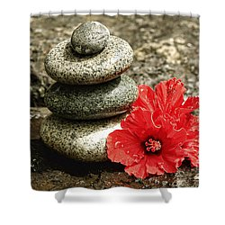 Serenity Shower Curtain by Cheryl Young