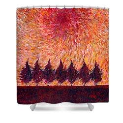 Seven Wishes Shower Curtain by Wojtek Kowalski