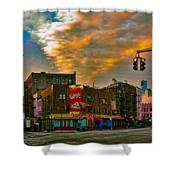 Seventh And Bleeker At Sunrise Nyc Shower Curtain by Chris Lord