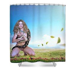 Shakira Mebarak Shower Curtain by Nestor Navarro