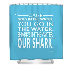 Sharks In The Water Shower Curtain by Mark Rogan