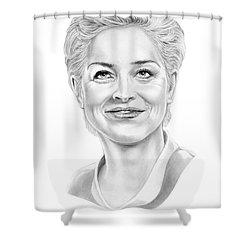 Sharon Stone Shower Curtain by Murphy Elliott