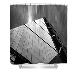 Sharp Angles Shower Curtain by Martin Newman