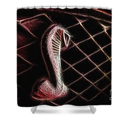 Shelby Cobra Grill Logo Shower Curtain by Tommy Anderson