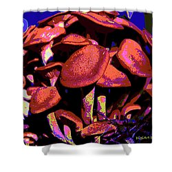 Shimmering Shrooms Shower Curtain by DigiArt Diaries by Vicky B Fuller