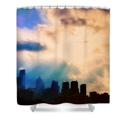Shine A Light Shower Curtain by Bill Cannon