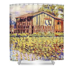 Shirley Russel Art Shower Curtain by Hawaiian Legacy Archive - Printscapes