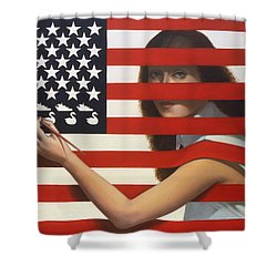 Shooting Gallery Shower Curtain by Jane Whiting Chrzanoska