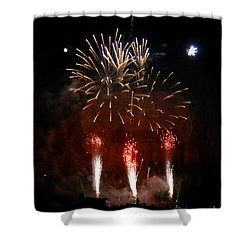 Shooting The Fireworks Shower Curtain by David Lee Thompson