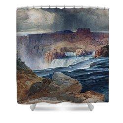 Shoshone Falls Idaho Shower Curtain by Thomas Moran